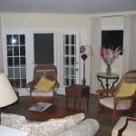 View of the living room at Gruesome Gables