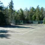 Photo: View of the tennis court at Quiet Harbor