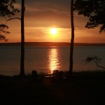 Photo: Sunset from Seaglass Cottage