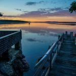 Photo: View of the dock and sunset at The Mooring Cottage