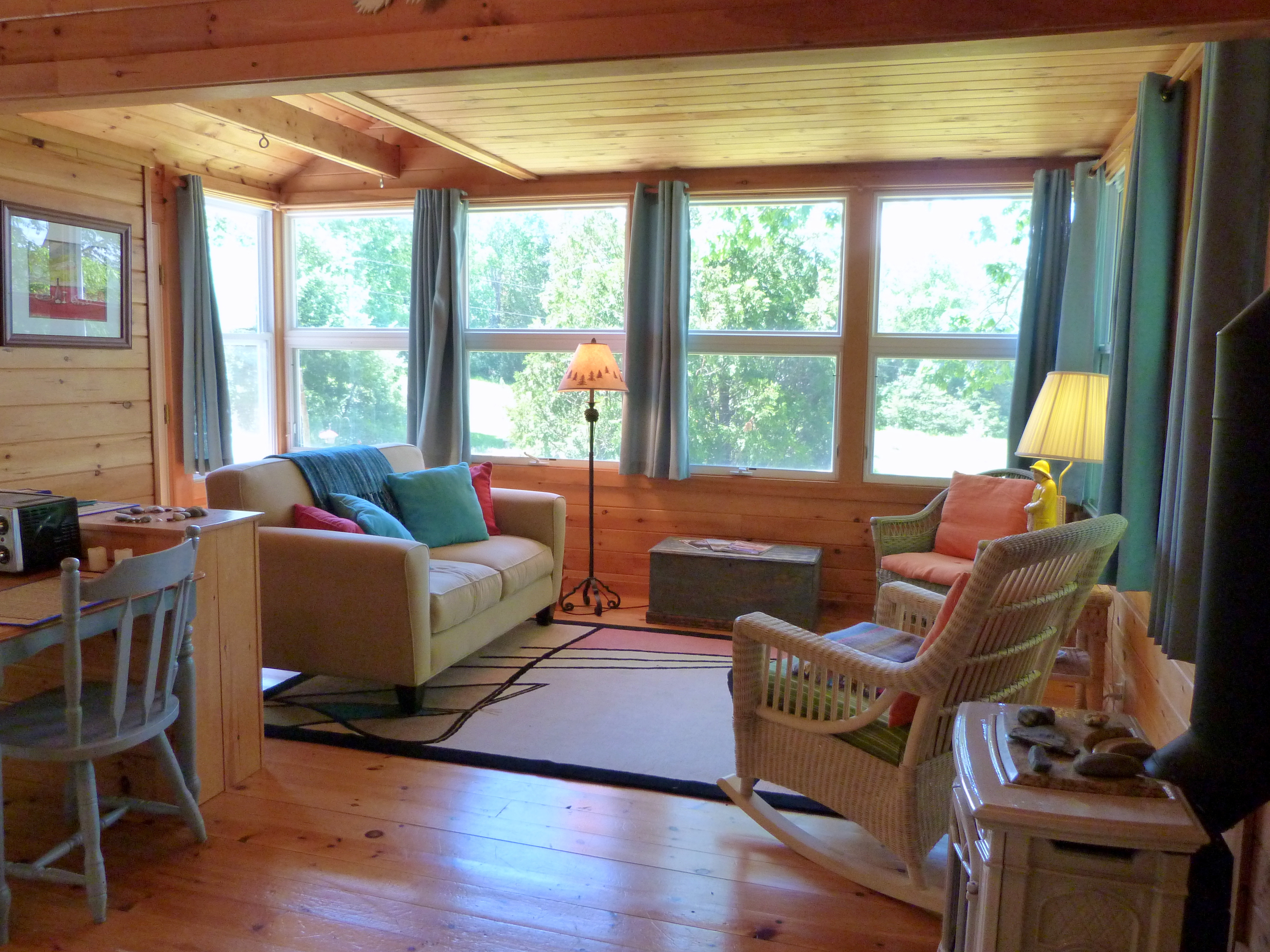 Photo: View 2 Of The Living Space At Cottage By The Sea