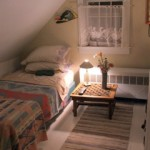 Photo: Upstairs bedroom at Cove Cottage