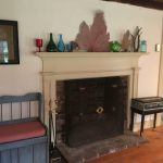 Photo: View of the hearth in Master at Nan's Caper