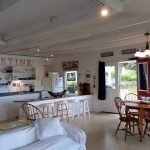 Photo: View of the kitchen area at Castine Cottage