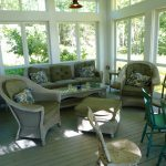 Photo: View of the porch at Bracken Cottage