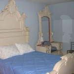 Photo: View of the queen bed in bedroom 3 at Gruesome Gables
