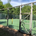 Photo: View of the tennis court at Eagle's Nest