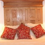 Photo: View of the master bedroom at Haven House