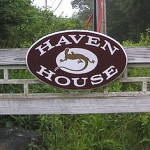 Photo: The sign leading to Haven House