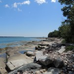 Photo: View of the rocks and water at Blue Heron
