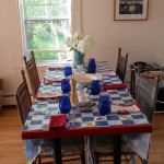 Photo: View of the dining table at Perkins Cottage