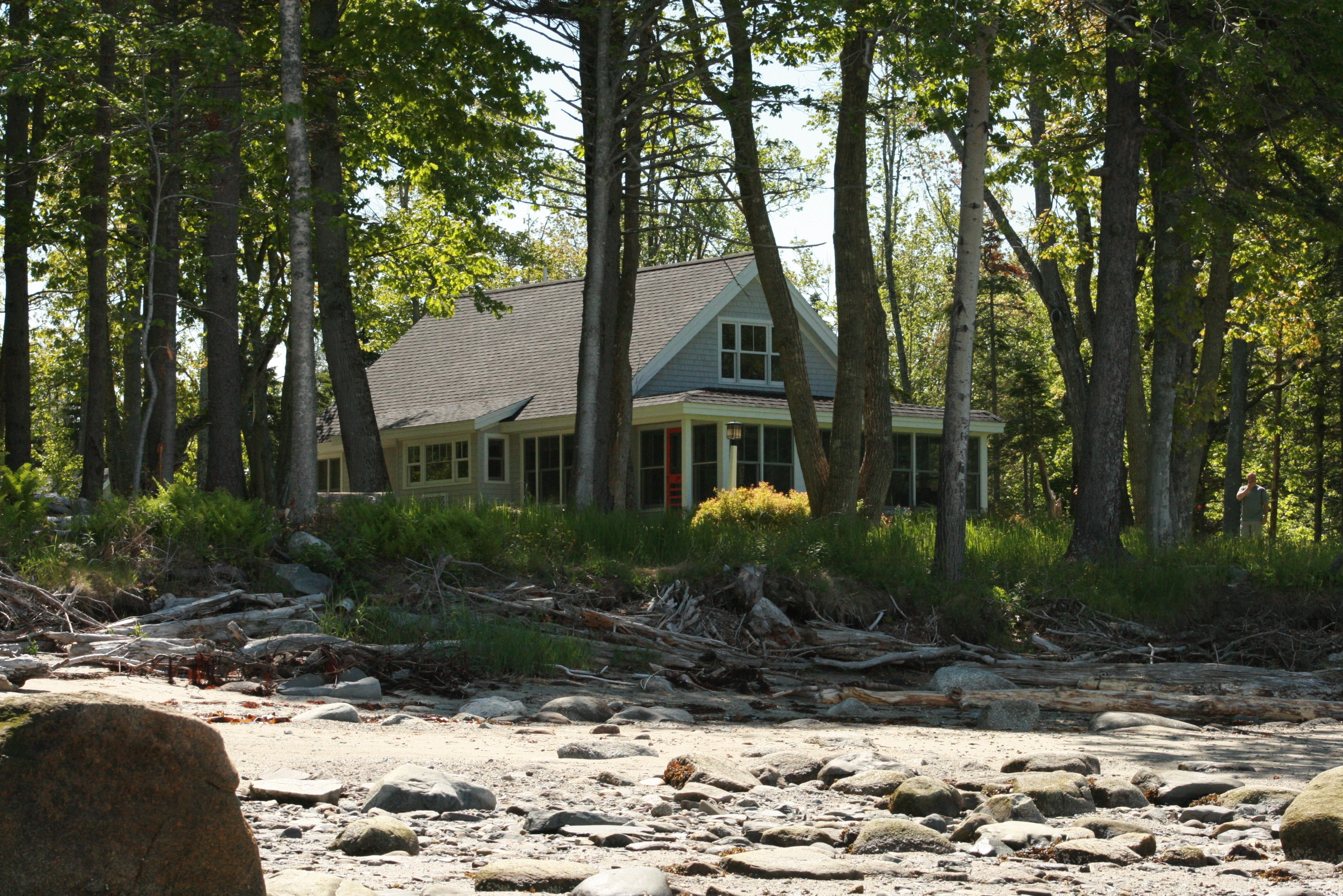 Photo: Exterior front at Seaglass Cottage