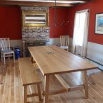Photo: View of the dining room at Wind Whistle Farm