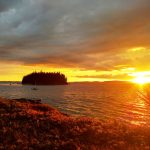 Photo: Fall sunset at Parker Point Cottage