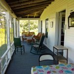 Photo: View of the screened-in porch at Parker Point Cottage