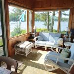 Photo: Sunny enclosed porch at Lone Gull